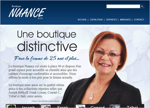 Site Internet - Boutique Nuance